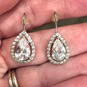 925 teardrop silver earrings
